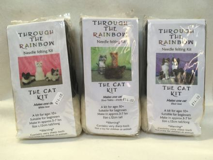 Through the Rainbow Needle Felting Cats Kit